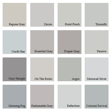 Fashion pointers urbanluxeinc Different colours of grey paint